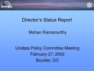 Director's Status Report