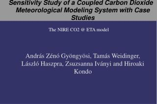Sensitivity Study of a Coupled Carbon Dioxide Meteorological Modeling System with Case Studies