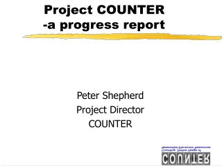 Project COUNTER -a progress report