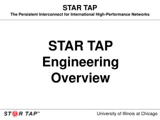 STAR TAP The Persistent Interconnect for International High-Performance Networks