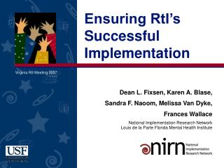 Ensuring RtI's Successful Implementation