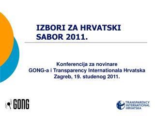 IZBORI ZA HRVATSKI SABOR 2011.