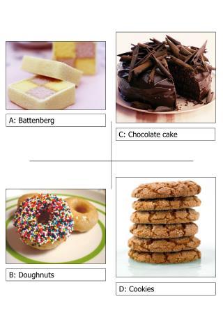 C: Chocolate cake