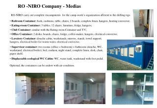 RO -NIRO Company - Medias