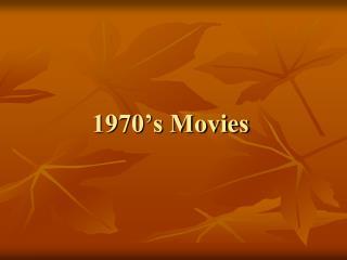 1970's Movies
