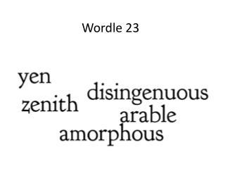 Wordle 23