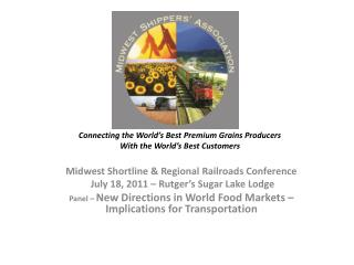 Connecting the World's Best Premium Grains Producers With the World's Best Customers