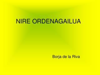 NIRE ORDENAGAILUA