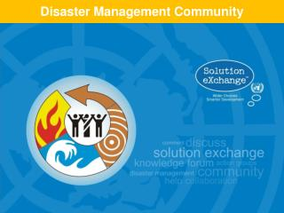 Disaster Management Community