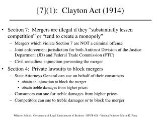 [7]1:  Clayton Act 1914
