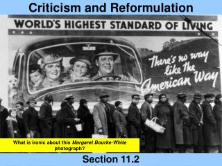 Criticism and Reformulation