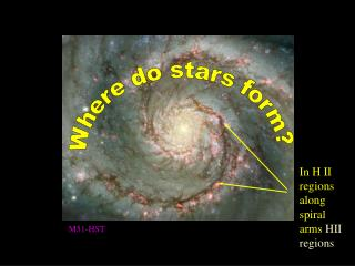 Where do stars form?