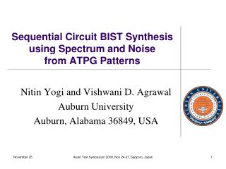Sequential Circuit BIST Synthesis using Spectrum and Noise  from ATPG Patterns