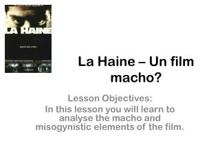 La Haine – Un film macho?