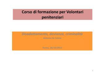 Corso di formazione per Volontari penitenziari