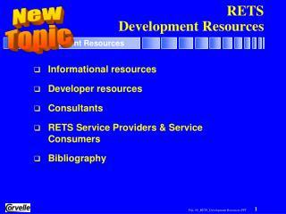 RETS Development Resources