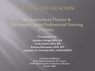 Assessing Nurse s Readiness for Evidence-Based Practice