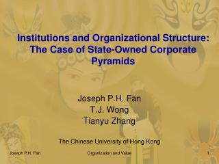 Institutions and Organizational Structure:  The Case of State-Owned Corporate Pyramids