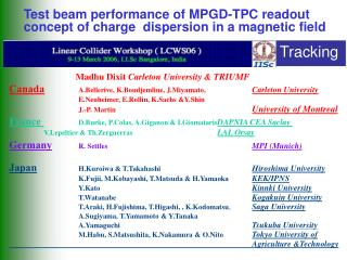 Test beam performance of MPGD-TPC readout concept of charge  dispersion in a magnetic field