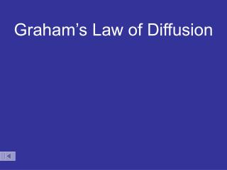 Graham's Law of Diffusion