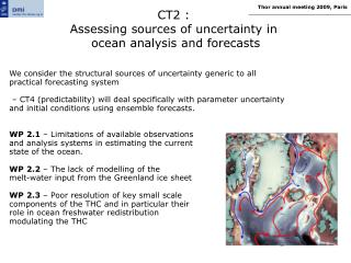 CT2 :  Assessing sources of uncertainty in  ocean analysis and forecasts