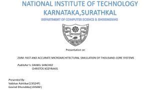NATIONAL INSTITUTE OF TECHNOLOGY KARNATAKA,SURATHKAL