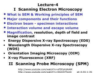 Lecture-4  I  Scanning Electron Microscopy