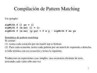 Compilaci ó n de Pattern Matching