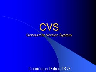 CVS Concurrent Version System