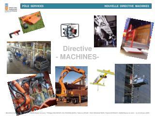 Directive - MACHINES-