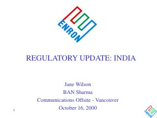 REGULATORY UPDATE: INDIA