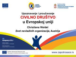 Upoznavanje i proučavanje Civilno društvo u  Evropskoj uniji