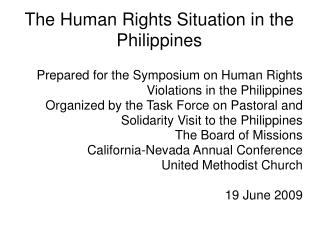 The Human Rights Situation in the Philippines
