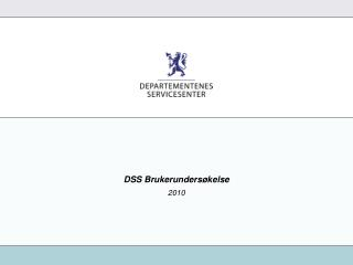 DSS Brukerundersøkelse