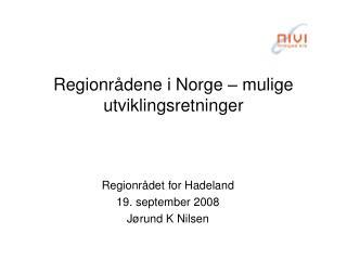 Regionrådene i Norge – mulige utviklingsretninger
