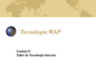 Tecnología  WAP