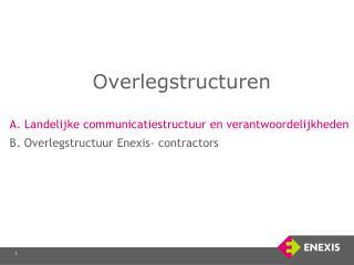 Overlegstructuren A. Landelijke communicatiestructuur en verantwoordelijkheden