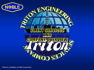 TRITON ENGINEERING          SERVICES COMPANY