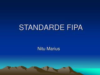 STANDARDE FIPA