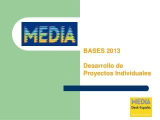 BASES 2013 Desarrollo de Proyectos Individuales