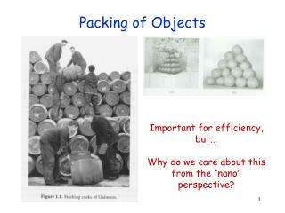 Packing of Objects
