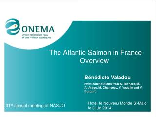The Atlantic Salmon in France Overview