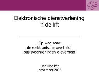 Elektronische dienstverlening  in de lift