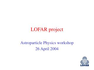 LOFAR project