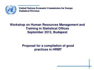 Proposal for a compilation of good practices in HRMT