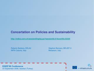 Concertation on Policies and Sustainability