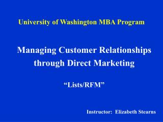 University of Washington MBA Program