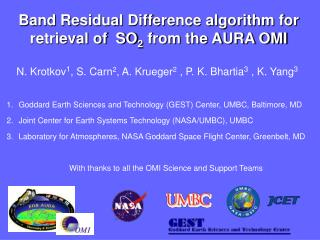 Band Residual Difference algorithm for retrieval of  SO 2  from the AURA OMI