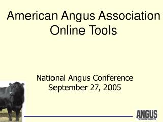National Angus Conference September 27, 2005