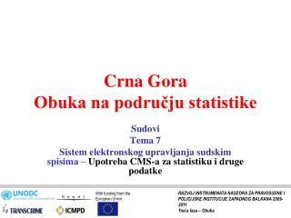 Crna Gora Obuka na području statistike